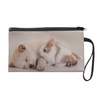 Puppy and Rabbit Wristlet Purse
