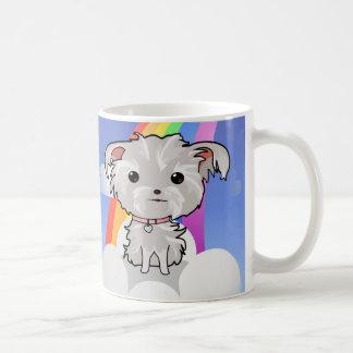 Puppy and Rainbow Coffee Mug