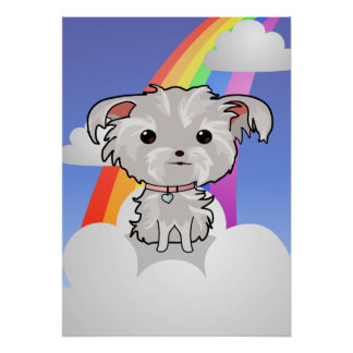 Puppy and Rainbow Poster