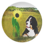 Puppy and the Flower Party Plate
