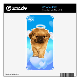 Puppy Angel Skin For The iPhone 4