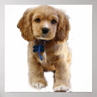 Puppy art poster