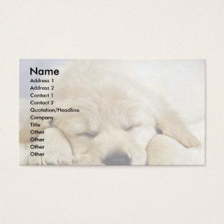 Puppy asleep business card