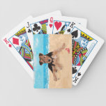 Puppy at the Beach Bicycle Poker Cards