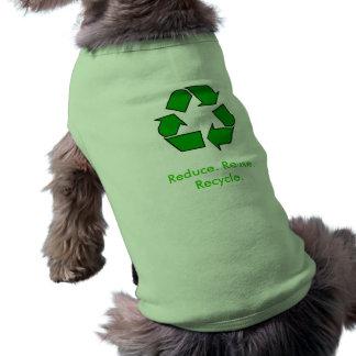 Puppy Awareness: Reduce. Reuse. Recycle. Doggie Shirt
