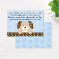 Puppy Baby Shower Book Request Cards