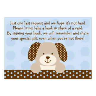 Puppy Baby Shower Book Request Cards Business Card