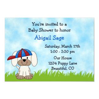 Puppy Baby Shower Invitation for Boys