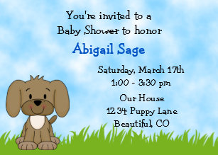 Puppy dog baby shower invitations zazzle puppy baby shower invitation for boys filmwisefo