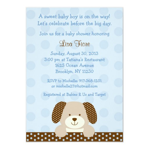 Puppy Baby Shower Invitations