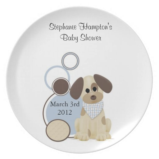 Puppy Baby Shower Signature Plate