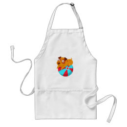 Puppy Balancing On The Inflatable Ball Adult Apron