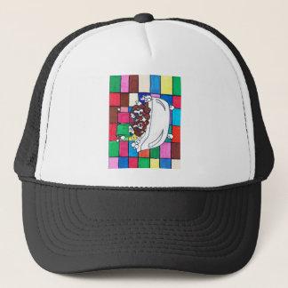 puppy bath time trucker hat