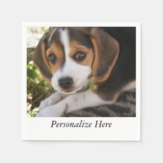 Puppy Beagles Standard Cocktail Napkin