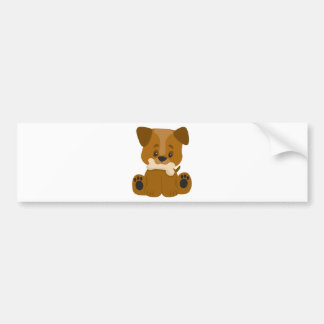 Puppy Big Paws Sitting Bumper Stickers