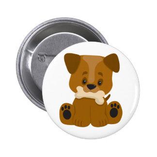 Puppy Big Paws Sitting 2 Inch Round Button