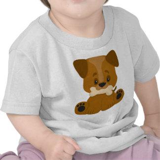 Puppy Big Paws Sitting Tee Shirts