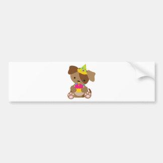 Puppy Birthday Bumper Sticker