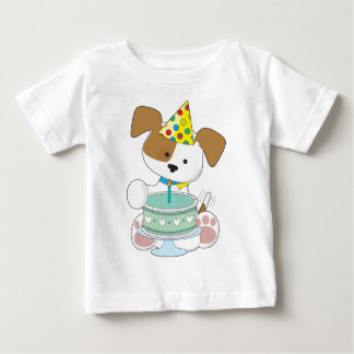 Puppy Birthday Cake Baby T-Shirt