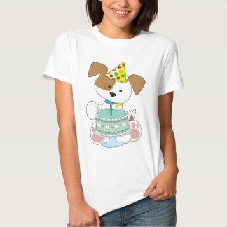 Puppy Birthday Cake T Shirt