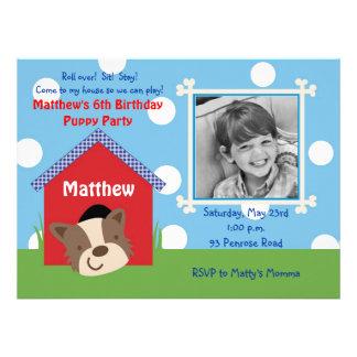 Puppy Birthday Personalized Invites