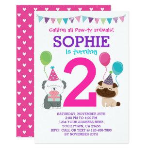 Puppy birthday invitations zazzle puppy birthday invitation for girls filmwisefo