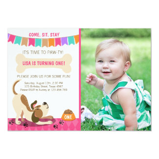 Puppy Birthday Invitation Paw-ty Puppy Party