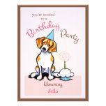 Puppy Birthday Party Beagle Girl Off-Leash Art™ Personalized Invites