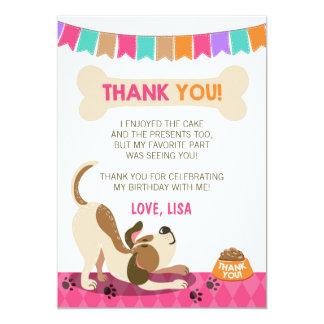 Puppy Birthday Paw-ty Puppy Thank You Card