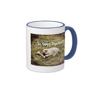 Puppy & Bone Ringer Coffee Mug