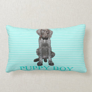 Puppy Boy Glossy Grizzly Dog Pillow