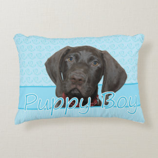 Puppy Boy Glossy Grizzly Dog Pillow Accent Pillow