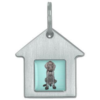 Puppy Boy Glossy Grizzly Dog tag Pet Tag