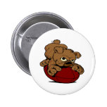 Puppy BullDog Football Pinback Button