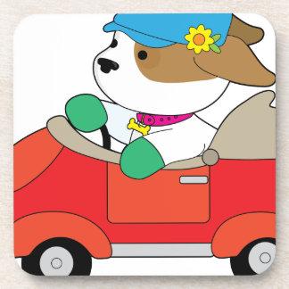 Puppy Car Beverage Coaster