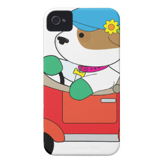 Puppy Car iPhone 4 Case