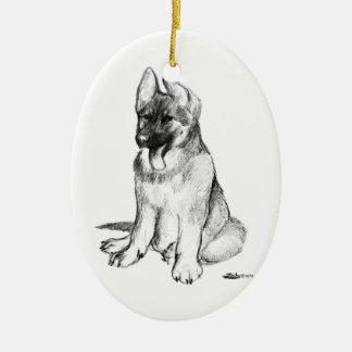 Puppy Ceramic Ornament