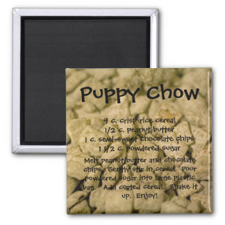 Puppy Chow 2 Inch Square Magnet