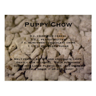 Puppy Chow Recipe Postcard