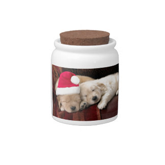 Puppy Christmas Candy Jar