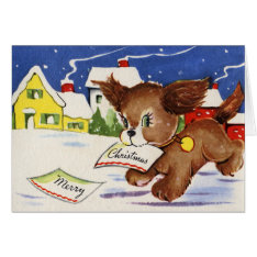 Puppy Christmas Card at Zazzle