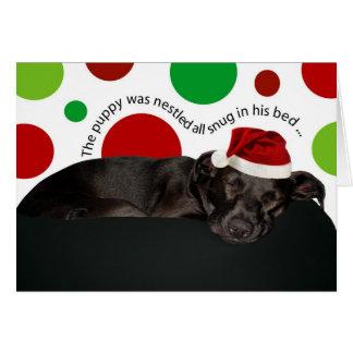 Puppy Christmas Dreams Greeting Card