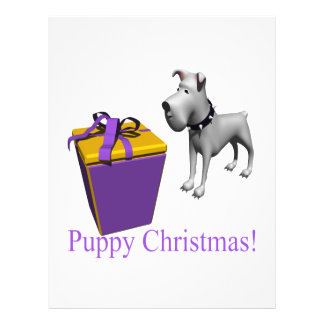 Puppy Christmas Personalized Flyer