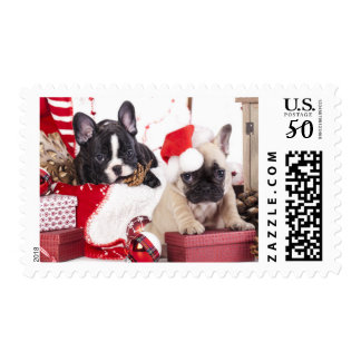 Puppy Christmas French Bulldog Postage