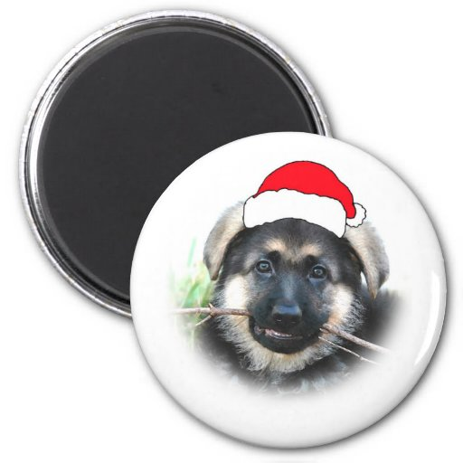 Puppy Christmas Magnet