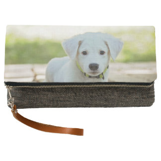 Puppy clutch, or use your own cute dog photo clutch