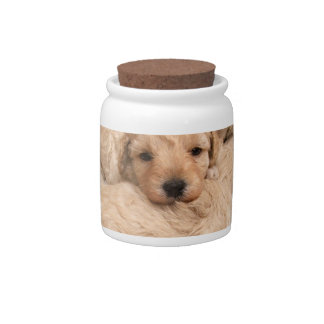 Puppy Collage Cookie Jar Candy Dishes