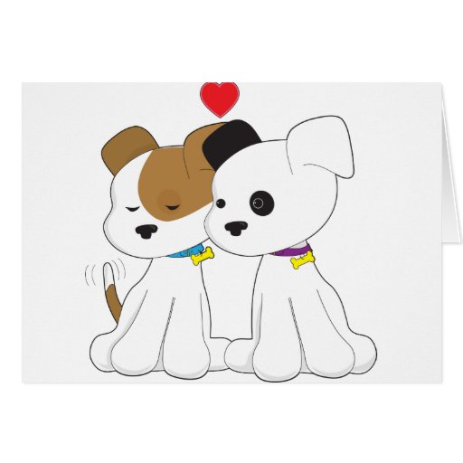 Puppy Couple Card