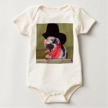 Puppy Cowboy Baby Piglet Farm Animals Babies Baby Bodysuit