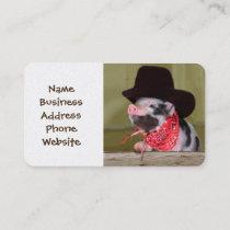 Puppy Cowboy Baby Piglet Farm Animals Babies Business Card